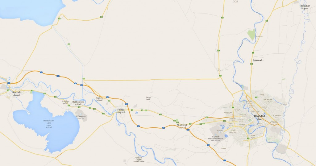 Map Ramadi - Fallujah - Taji