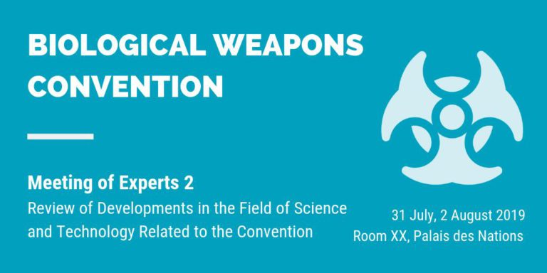 Blog 2 – Experiences of a student at the Meetings of Experts of the Biological and Toxin Weapons Convention