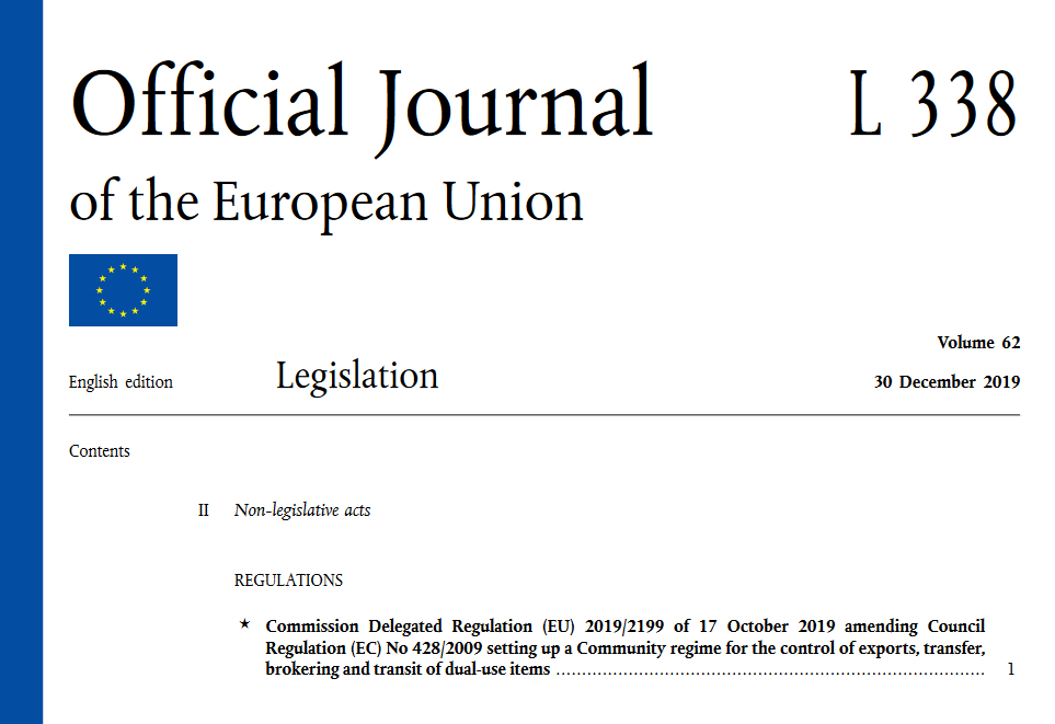 EU dual-use regulation