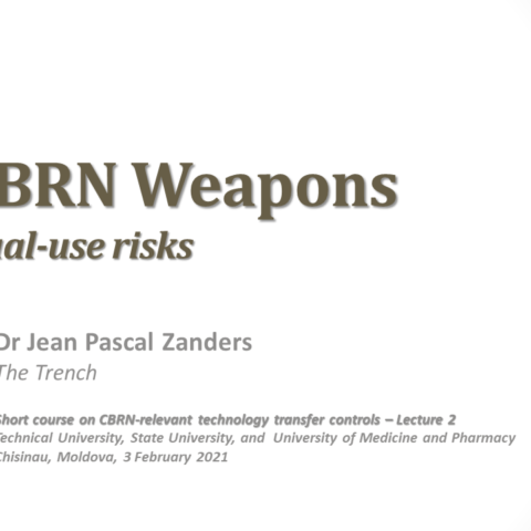 Education on CBRN-relevant dual-use technology transfers in Moldova